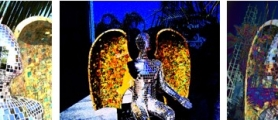 Janet Gervers Digital Art, Angel Over Venice Triptych