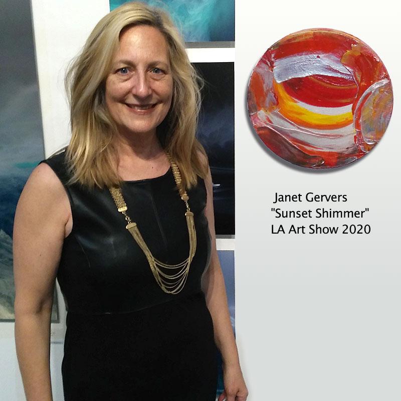Janet Gervers Sunset Shimmer LA Art Show 2020