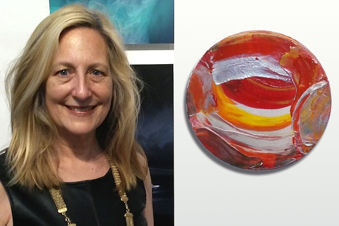 Janet Gervers in the 2020 Los Angeles Art Show