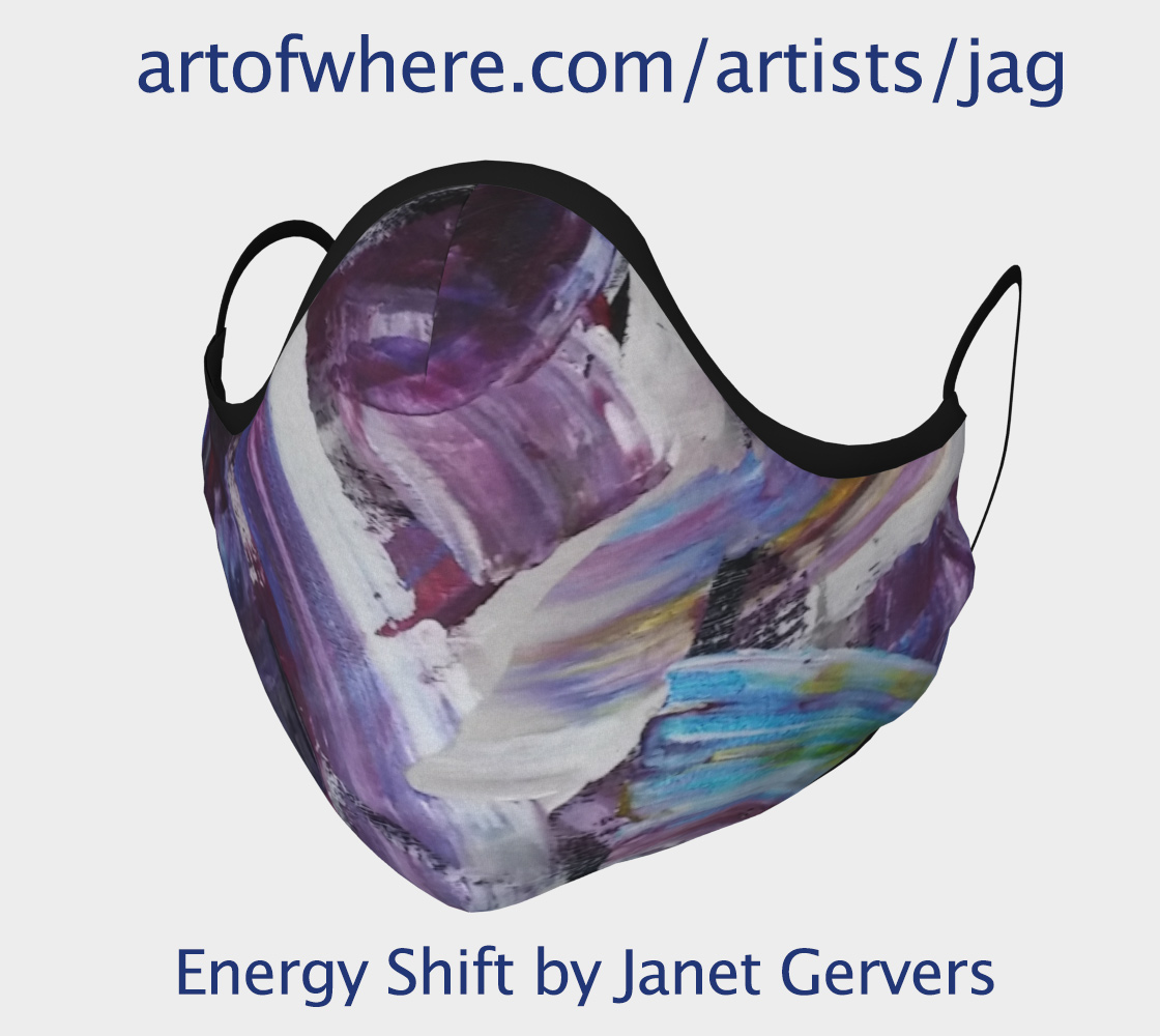 FAce Mask with Art Print by Janet Gervers