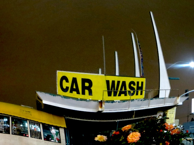 Janet Gervers, Digital Photograph, Car Wash & Roses 2013