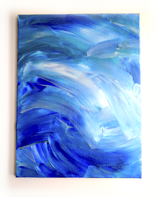 Shimmer painting-Janet Gervers-2018