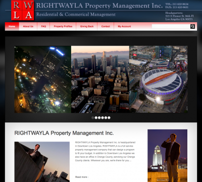 Wordpress Blog Website for Rightwayla Property Management in Downtown Los Angeles
