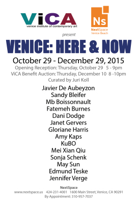 venice here and now show JAnet Gervers Wave Painting Series